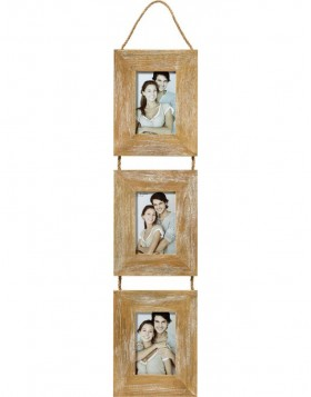 Gallery frame Limmerick III brown 3 photos 10x15 cm