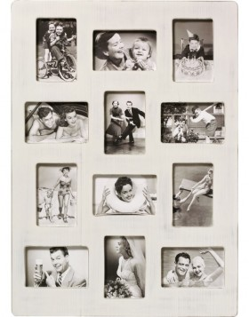 Gallery frame Kerry 12 photos 10x15 cm white