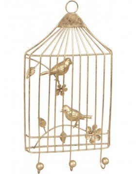 BIRDS coatrack gold 17x32 cm