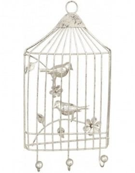BIRDS coatrack silver 17x32 cm