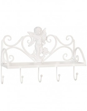 coatrack white ANGEL 5 hooks