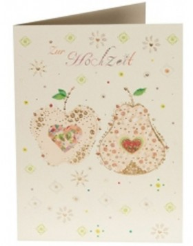 Gl�ckwunschkarte APPLE & PEAR