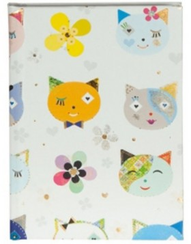 Goldbuch DIN A6 Notizbuch CATS WHITE