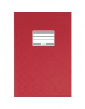 Exercise book cover PP A6 upright red opaque