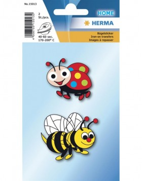 HERMA Iron on sticker bee + ladybird