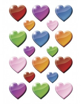 HERMA Sticker DECOR Coloured hearts