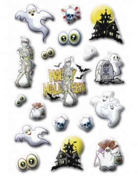 HERMA Sticker Halloween ghosts, Stone glittery
