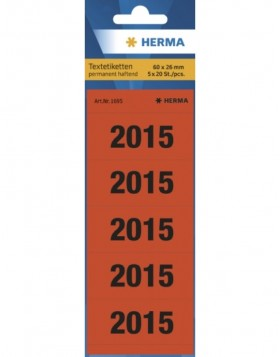 HERMA Spine year dates 2015 red