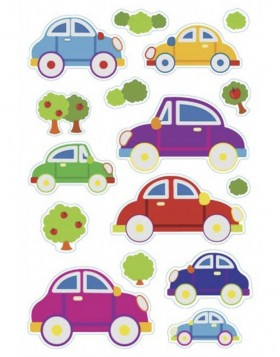 HERMA Sticker MAGIC Cars, Prismatic foil + foam