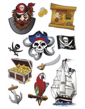 HERMA Sticker MAGIC pirates, Prismatic foil