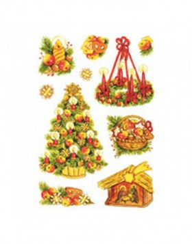 HERMA DECOR* Christmas Symbols, glittery