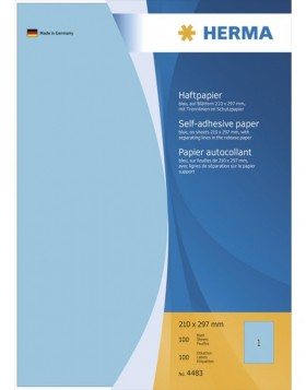 Adhesive paper A4 blue 100 sh.