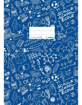 Exercise book cover A4 SCHOOLYDOO, dark blue