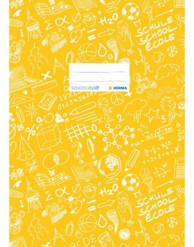 Exercise book cover A4 SCHOOLYDOO, yellow