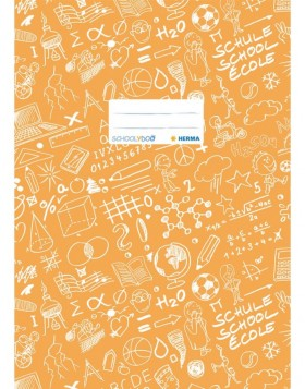 Exercise book cover A4 SCHOOLYDOO, orange