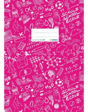 Exercise book cover A4 SCHOOLYDOO, dark pink