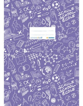 Exercise book cover A4 SCHOOLYDOO, violet