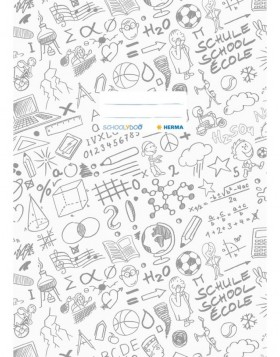 Exercise book cover A4 SCHOOLYDOO, white
