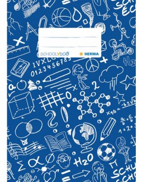 Exercise book cover A5 SCHOOLYDOO, dark blue