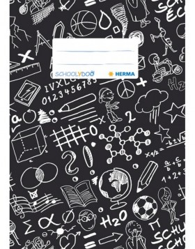 Exercise book cover A5 SCHOOLYDOO, black