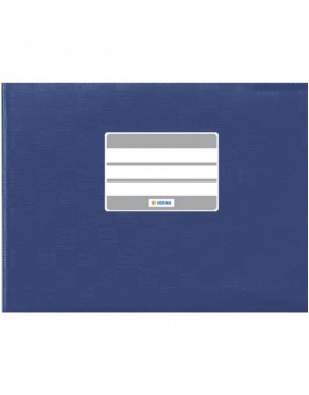 Exercise book cover PP A5 across dark blue opaque