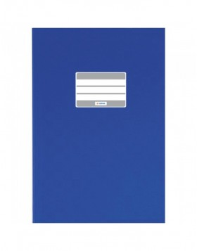 Exercise book cover PP A4 dark blue opaque