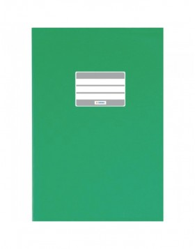 Exercise book cover PP A4 dark green opaque