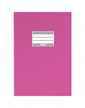 Exercise book cover PP A4 pink opaque