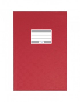 Exercise book cover PP A4 red opaque