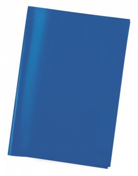 Exercise book cover PP A4 transparent/blue