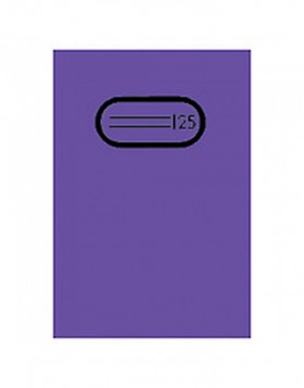 Exercise book cover PP A4 transparent/violet