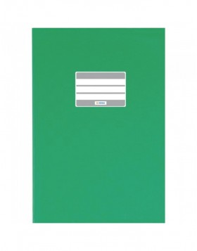Exercise book cover PP A5 dark green opaque