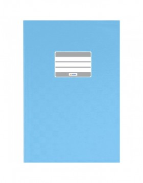 Exercise book cover PP A5 light blue opaque