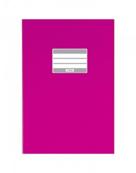 Exercise book cover PP A5 pink opaque