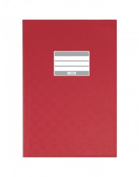 Exercise book cover PP A5 red opaque