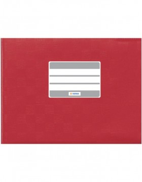 Exercise book cover PP A5 across red opaque