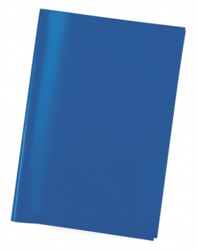 Exercise book cover PP A5 transparent/blue