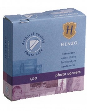 Henzo photo corners 500 pieces transparent