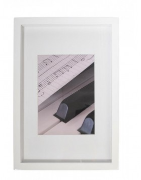 Wooden frame Piano white 20x30 cm