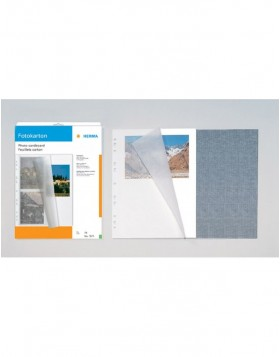 photo mounting board A4 white 230x297 with protection...