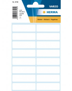 Multi-purpose labels 12x40mm white 112 pcs.