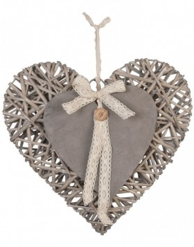 heart hanger in the size 35x34 cm