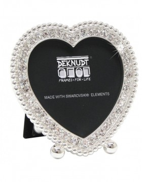 Heart shaped frame with Satara with Swarovski elements