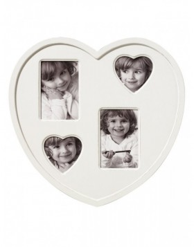 Heart Gallery Frame CUORE 4 photos in white