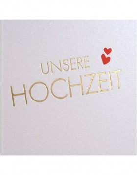 Wedding Album Golden Hearts