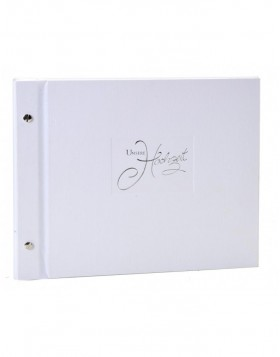 Post bound wedding album in white Seda