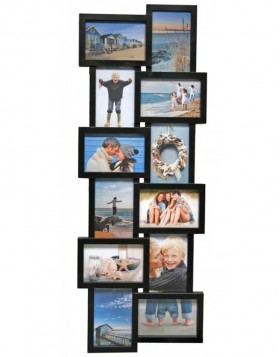 Holiday gallery frame 12 photos black