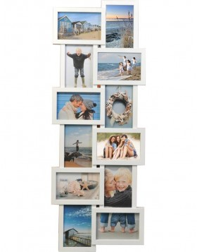Holiday gallery frame 12 photos white