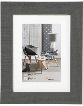 Home wooden frame 18x24 cm grey