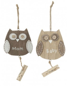 Clayre Eef hanger OWL in 2 designs